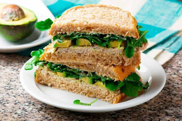turkey avocado sandwich featuring fischer's sliced turkey